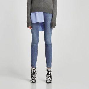 NWT Zara the high waste jeans